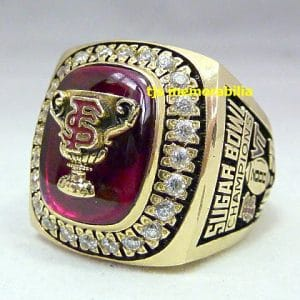2000 FSU FLORIDA STATE SEMINOLES SUGAR BOWL CHAMPIONSHIP RING
