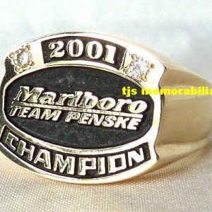 2001 MARLBORO TEAM PENSKE CART FEDEX CHAMPIONSHIP SERIES CHAMPIONSHIP RING