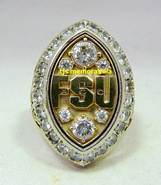 2003 FSU Seminoles ACC Championship Ring
