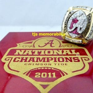 2011 ALABAMA CRIMSON TIDE NATIONAL CHAMPIONSHIP RING