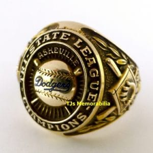 1948 ASHEVILLE TOURISTS BROOKLYN DODGERS TRI STATE CHAMPIONSHIP RING