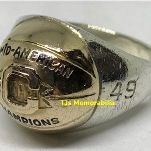 1949 CINCINNATI BEARCATS MAC BASKETBALL CHAMPIONSHIP RING