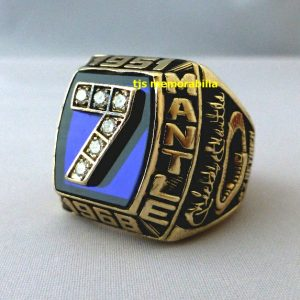 1951 – 1968 MICKEY MANTLE NEW YORK YANKEES CAREER CHAMPIONSHIP RING