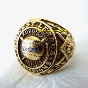 1957 BROOKLYN DODGERS MINOR LEAGUE CHAMPIONSHIP RING