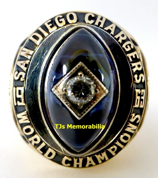San Diego Chargers Championships: 1963 SAN DIEGO CHARGERS AFC CHAMPIONSHIP RING