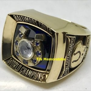 1970 BALTIMORE COLTS SUPER BOWL V CHAMPIONSHIP RING PSA/DNA LETTER OF AUTHENTICITY