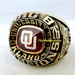 1976 OKLAHOMA SOONERS BIG 8 EIGHT CHAMPIONSHIP RING
