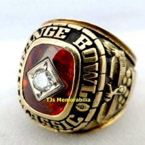 1978 OKLAHOMA SOONERS ORANGE BOWL CHAMPIONSHIP RING
