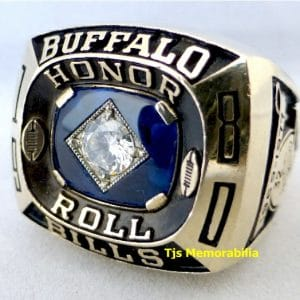 1980 OJ SIMPSON BUFFALO BILLS HONOR ROLL CHAMPIONSHIP RING