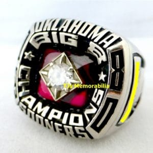 1980 OKLAHOMA SOONERS BIG 8 EIGHT CHAMPIONSHIP RING
