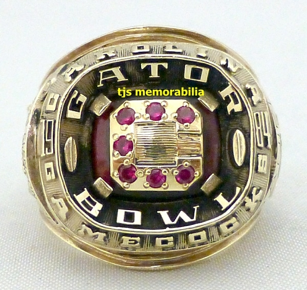 1984 USC SOUTH CAROLINA GAMECOCKS GATOR BOWL CHAMPIONSHIP RING