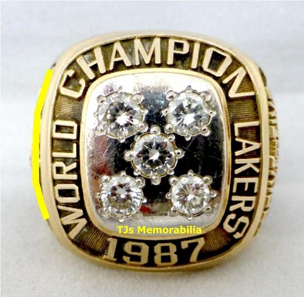 1987 LOS ANGLES LA LAKERS NBA CHAMPIONSHIP RING - Buy and Sell Championship Rings