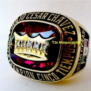 1994 JULIO CAESAR CHAVEZ 5X WORLD BOXING CHAMPION CHAMPIONSHIP RING