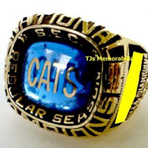 1998 KENTUCKY WILDCATS BASKETBALL SEC NATIONAL CHAMPIONSHIP RING