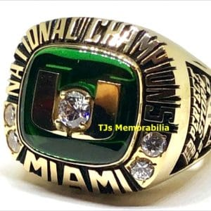 2001 UNIVERSITY OF MIAMI HURRICANES NATIONAL CHAMPIONSHIP RING