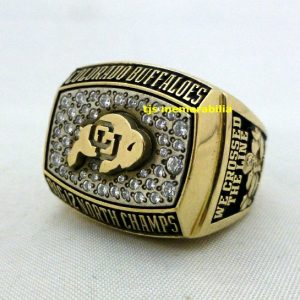 2002 COLORADO BUFFALOES BIG 12 NORTH BACK TO BACK CHAMPIONSHIP RING