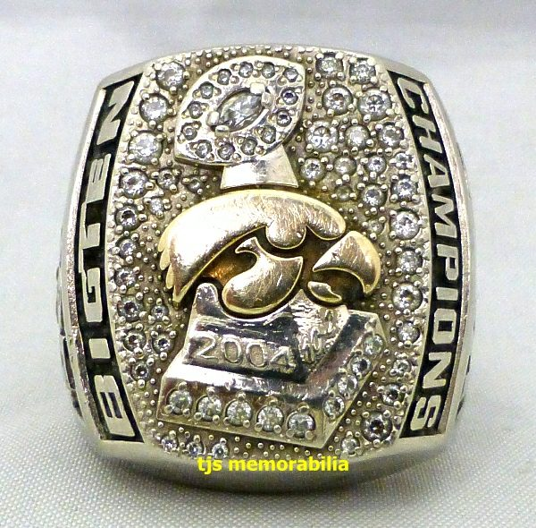 2004 Iowa Hawkeyes Big Ten Champions Ring