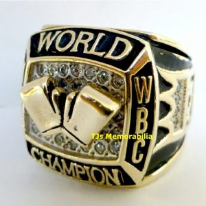 2006 RICARDO MAYORGA 2 WEIGHT WBA & WBC BOXING CHAMPION CHAMPIONSHIP RING