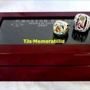 2007 & 2013 BOSTON RED SOX WORLD SERIES CHAMPIONSHIP RING SET & LIGHTED PRESENTATION BOX