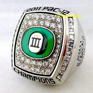 2011 OREGON DUCKS 3X PAC 12 CHAMPIONSHIP RING