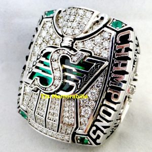 2013 SASKATCHEWAN ROUGHRIDERS CFL GREY CUP CHAMPIONSHIP RING