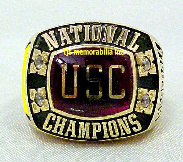 1974 USC Trojans National Championship Ring