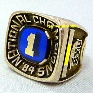 1984 BYU COUGARS NATIONAL CHAMPIONSHIP RING