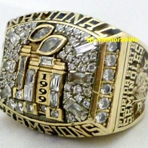 1999 FSU FLORIDA STATE SEMINOLES NATIONAL CHAMPIONSHIP RING