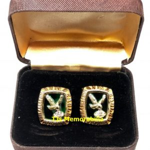 1980 PHILADELPHIA EAGLES NFC CHAMPIONSHIP RING TOP CUFFLINKS