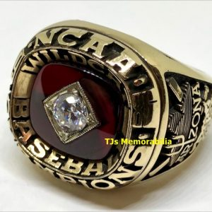 1986 ARIZONA WILDCATS COLLEGE WORLD SERIES CHAMPIONS CHAMPIONSHIP RING