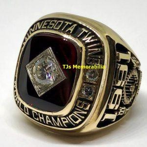 1991 MINNESOTA TWINS WORLD SERIES CHAMPIONS CHAMPIONSHIP RING