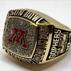 2003 MINNESOTA GOLDEN GOPHERS SUN BOWL CHAMPIONSHIP RING