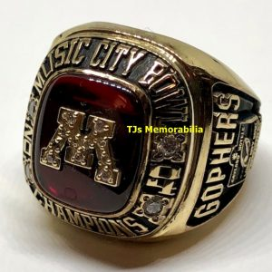 2004 MINNESOTA GOLDEN GOPHERS MUSIC CITY BOWL CHAMPIONSHIP RING