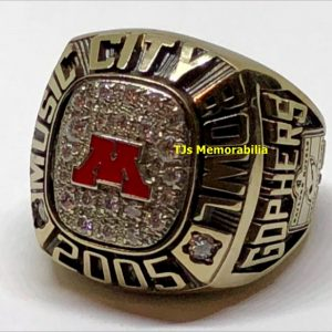 2005 MINNESOTA GOLDEN GOPHERS MUSIC CITY BOWL CHAMPIONSHIP RING