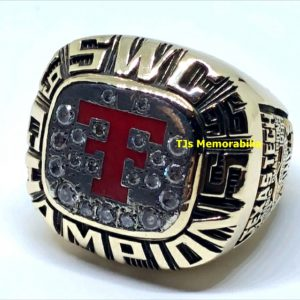 1996 TEXAS TECH RED RAIDERS SWC SOUTH WEST CONFERENCE BASKETBALL CHAMPIONSHIP RING