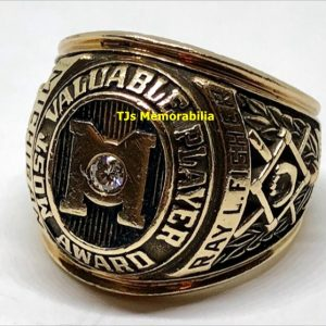 1978 MICHIGAN WOLVERINES MVP STEVE HOWE BASEBALL CHAMPIONSHIP RING