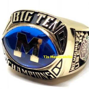 1988 MICHIGAN WOLVERINES BIG TEN CHAMPIONSHIP RING