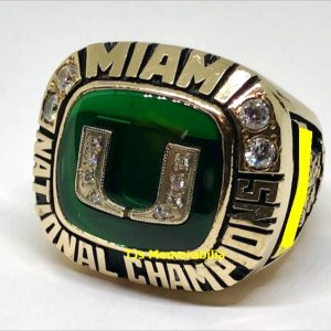 1991 U OF MIAMI HURRICANES NATIONAL CHAMPIONSHIP RING