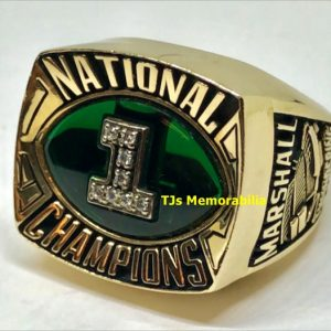 1992 MARSHALL THUNDERING HERD NATIONAL CHAMPIONSHIP RING