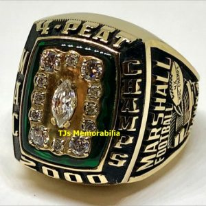 2000 MARSHALL THUNDERING HERD FOUR PEAT MAC CHAMPIONSHIP RING