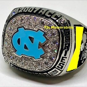 2009 NORTH CAROLINA TAR HEELS BACK TO BACK ACC BASEBALL CHAMPIONSHIP RING