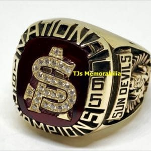 1965 ARIZONA STATE SUN DEVILS WORLD SERIES NATIONAL CHAMPIONSHIP RING