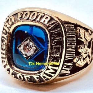 2001 NFL PRO FOOTBALL HALL OF FAME CHAMPIONSHIP RING JACK YOUNGBLOOD