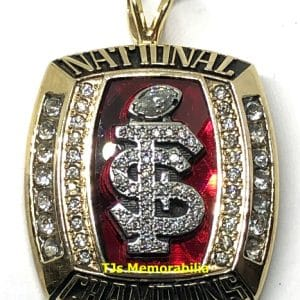 2013 FSU FLORIDA STATE SEMINOLES FOOTBALL NATIONAL CHAMPIONSHIP RING TOP PENDANT