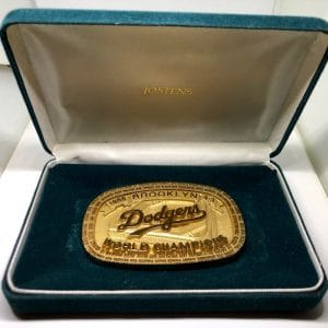 1955 BROOKLYN DODGERS WORLD SERIES CHAMPIONSHIP BELT BUCKLE NOT RING