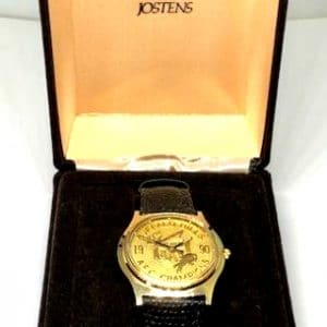 1990 BUFFALO BILLS AFC CHAMPIONSHIP WATCH & ORIGINAL PRESENTATION BOXES