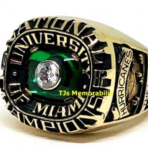1982 MIAMI HURRICANES BASEBALL WORLD SERIES NATIONAL CHAMPIONSHIP RING