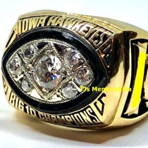1985 IOWA HAWKEYES BIG TEN FOOTBALL CHAMPIONSHIP RING