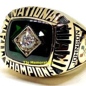 1987 U OF MIAMI HURRICANES NATIONAL CHAMPIONSHIP RING