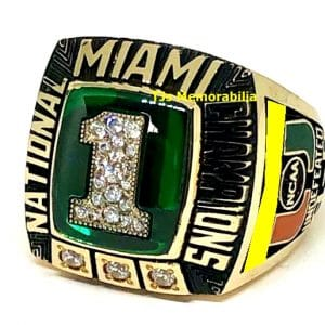 1999 U OF MIAMI HURRICANES BASEBALL WORLD SERIES CHAMPIONSHIP RING
